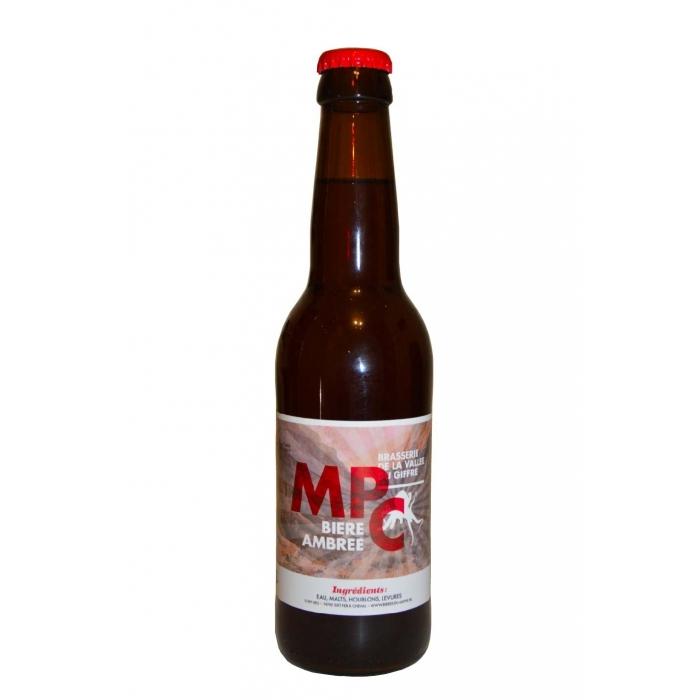 Ambrée MPC, bière artisanale Amber Ale, brasserie artisanale de la vallée du giffre, coffret bière juin