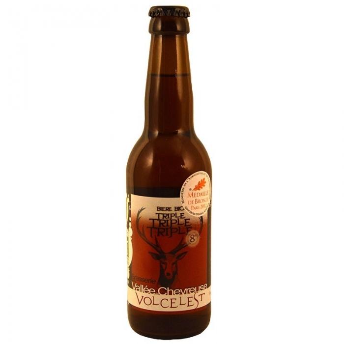 Bière triple artisanale Volcelest triple