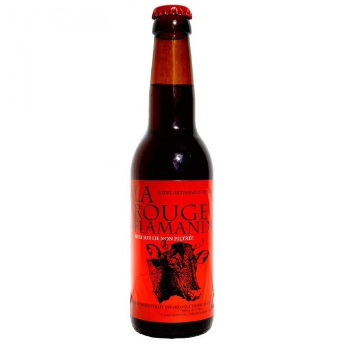 Bière ambrée artisanale La Rouge Flamande Thiriez