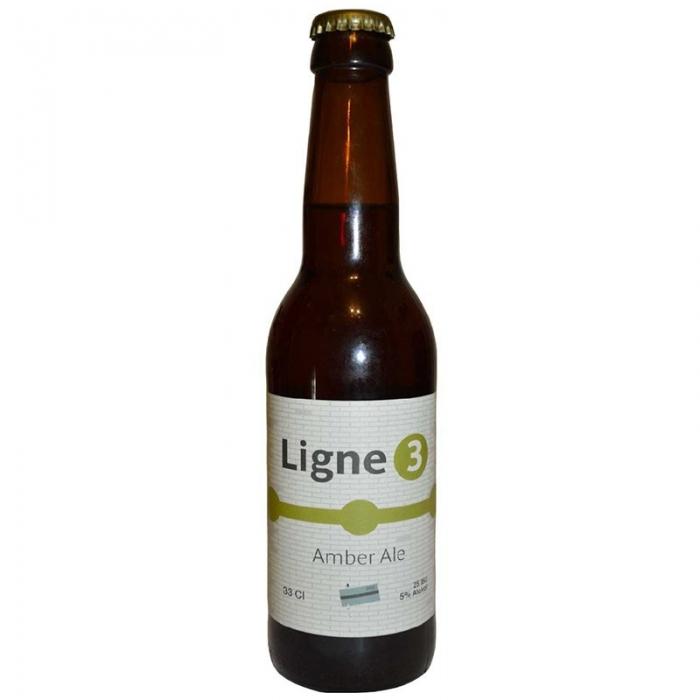 Bière ambrée artisanale Ligne 3