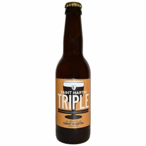Bière triple artisanale Le Moulin de Saint Martin