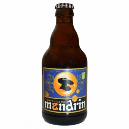 Bière ambrée artisanale aux Noix Mandrin